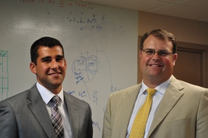 Austin Potter (left) with Chad Wable (right), President and Chief Executive Officer, Saint Mary's Health System.