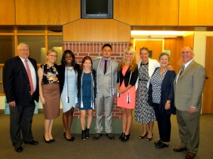 Members of the SHRM@QU Executive Council joined by their special guests at the Induction Ceremony held Sunday