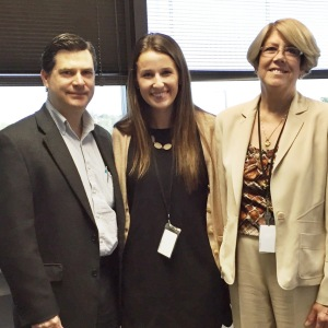 Left-President & CEO of Qualidigm, Tim Elwell; Center-Erika Edlund (MBA '16); Right-Consulting Director, Deb Quetti